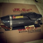 Slipon Akrapovic Half Cover