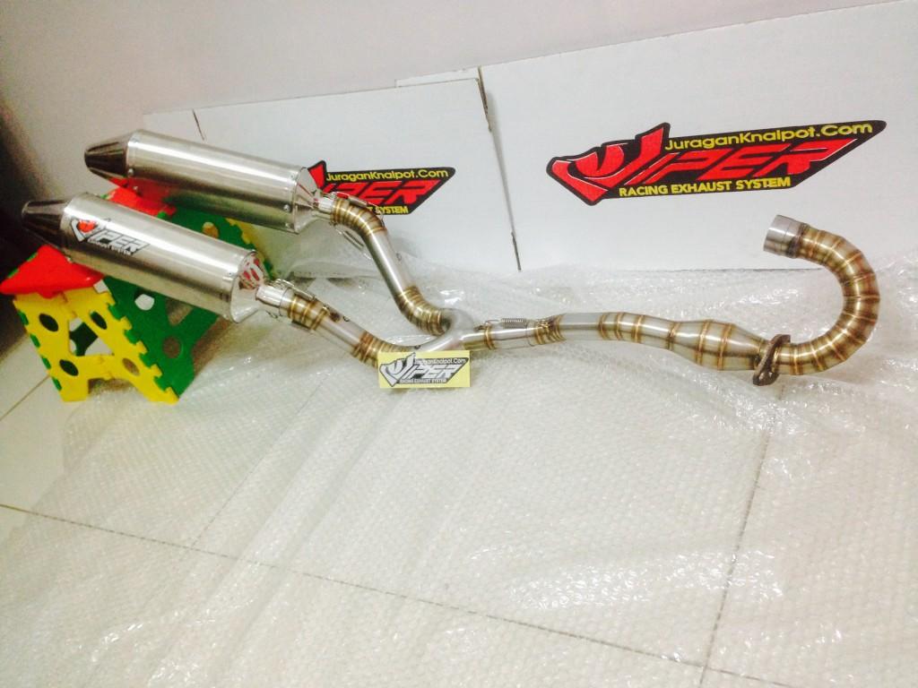 BlackViper Double Muffler KLX1150 & D-Tracker150 @ JuraganKnalpot.Com