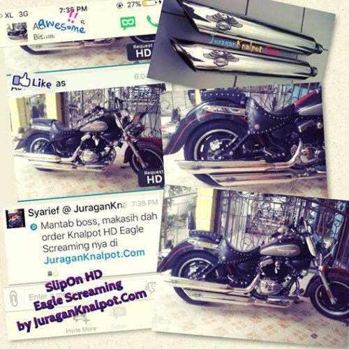 Eagle Scream Knalpot Slip On Harley Davidson HD by JuraganKnalpotDotCom