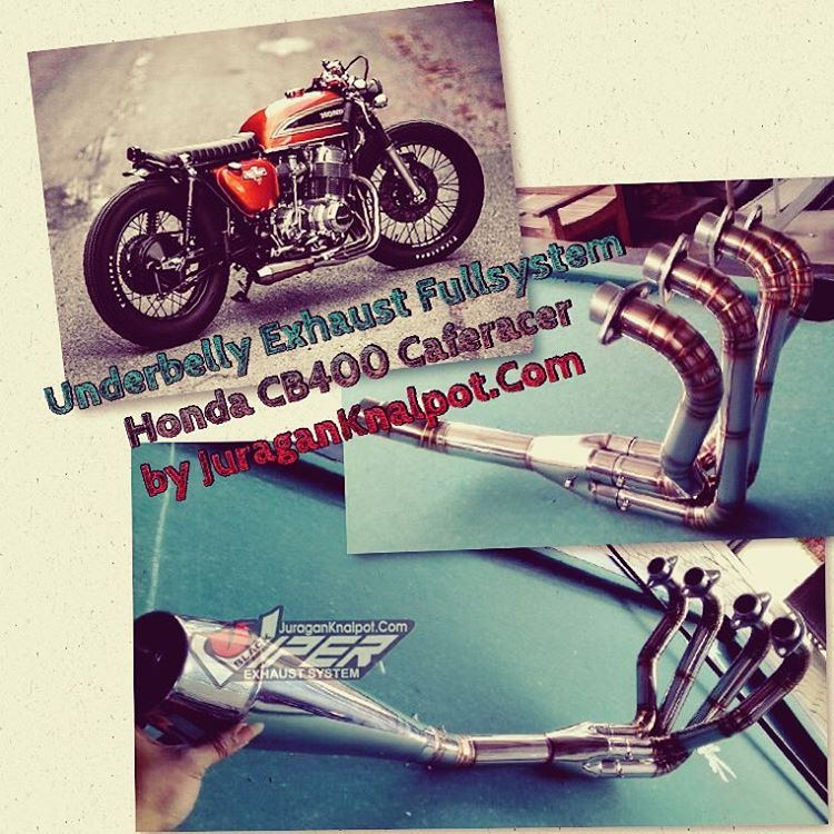 Knalpot Fullsystem Honda CB400 Model Kolong/Underbelly by www.JuraganKnalpot.com