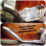 Jual Knalpot Exhaust Fullsystem Honda CB400 Akra Megaphone
