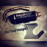 Exhaust Fullsystem with Bracket for Vespa Matic Primavera & Sprint by JuraganKnalpot.Com