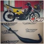 Knalpot Racing Suzuki Satria 2Tak Black Viper Kompetisi