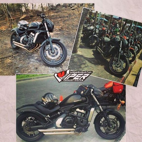 Jual Custom Knalpot Kawasaki Vulcan 650 S Model Truedual Double Slash