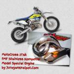 Knalpot Satria 2Tak trail udang full kompetisi dan non kompetisi