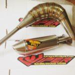 Knalpot TS125 Fullstainless dengan slencer fullkompetisi rasa Special Engine